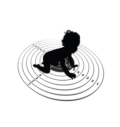 Child on target vector