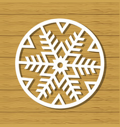christmas snowflake ornament vector image