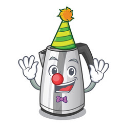 Clown mascot cartoon household kitchen electric vector