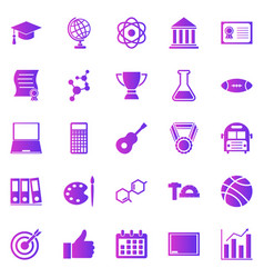 college gradient icons on white background vector image