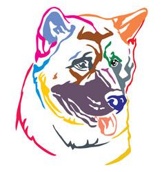 Colorful decorative portrait of dog american vector