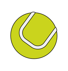 colorful image cartoon tennis ball on white vector image