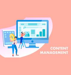 Content management creation banner concept vector