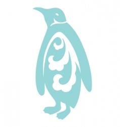 decorative penguin vector image vector image