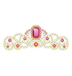 diadem icon luxury tiara for coronation vector image