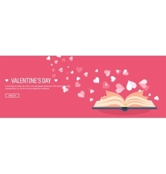 Flat background with book vector