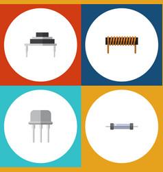 Flat icon electronics set of resistor bobbin vector