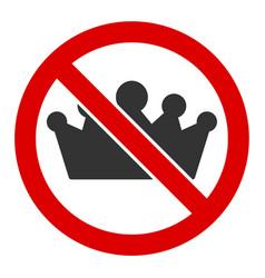 Flat no monarchy icon vector