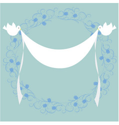 frame with doves and flag vector image