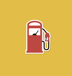Gas station poster vector