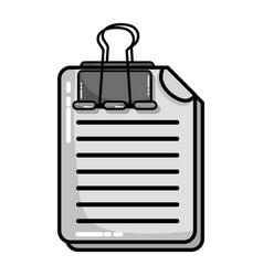 Grayscale business document information with clip vector