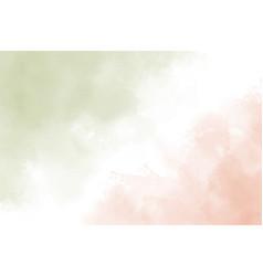 Green and peach orange watercolor brush stroke vector