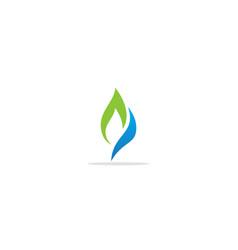Green leaf bio logo vector