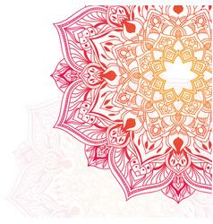 Hand drawn floral mandala vector