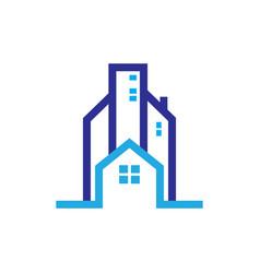 Home skyscraper business logo vector
