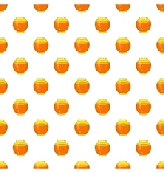 Honey bank pattern cartoon style vector