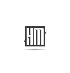 Initial letter hm logo template design vector