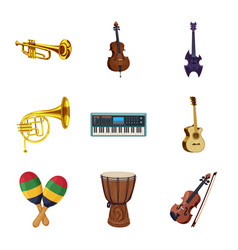 isolated object of music and tune sign set of vector image