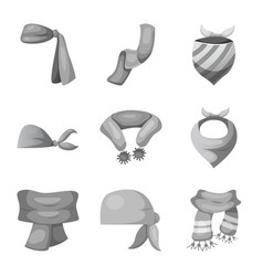 Isolated object of scarf and shawl symbol vector