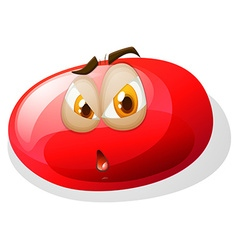 Jelly bean with face vector image
