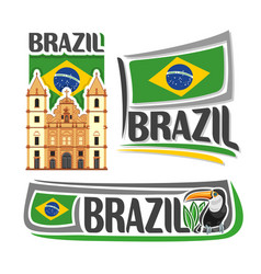 logo for brazil vector image