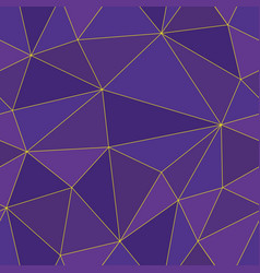 luxurious abstract polygon seamless design vector image