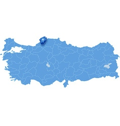 Map of Turkey Bartin vector