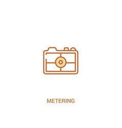 Metering concept 2 colored icon simple line vector
