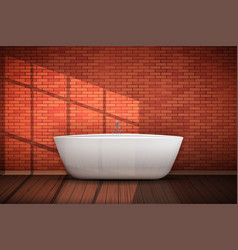 Modern bath in loft interior vector