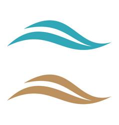 natural wave for spa logo template design eps 10 vector image