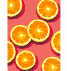 oranges on pink vector image