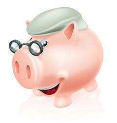 Pension plan savings concept vector