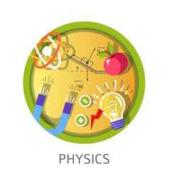 Physics science subject studies themed concept vector