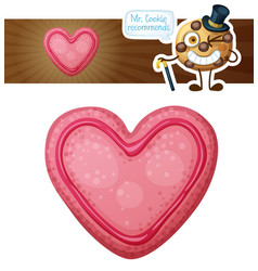 pink valentine day cookie vector image