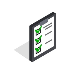 Plan is executed icon isometric 3d style vector image