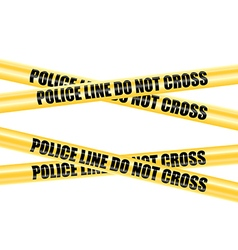 Police Line Do Not Cross tape vector