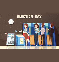 Politics election voting cartoon vector