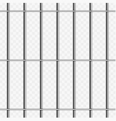 Prison bars on transparent vector