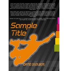 quad-skating poster vector image