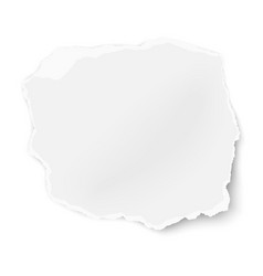 Ragged paper tear with soft shadow isolated vector