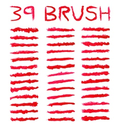red brushes vector image vector image