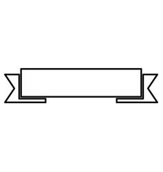 Ribbon black color icon vector