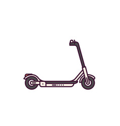 scooter line style vector image