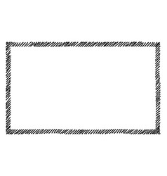 Scribble hatching along rim frame rectangle vector