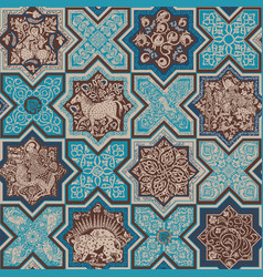 Seamless pattern with tiles vector