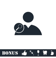 Search user icon flat vector image