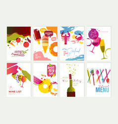 set of menu and brochure design templates vector image