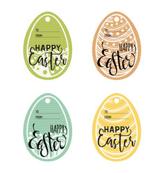 set vintage easter gift tags vector image