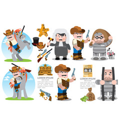 Set with cartoon characters on the theme of the vector
