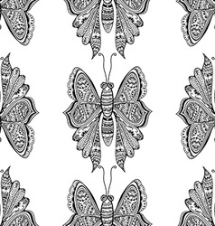 stylized brown Butterfly vector image